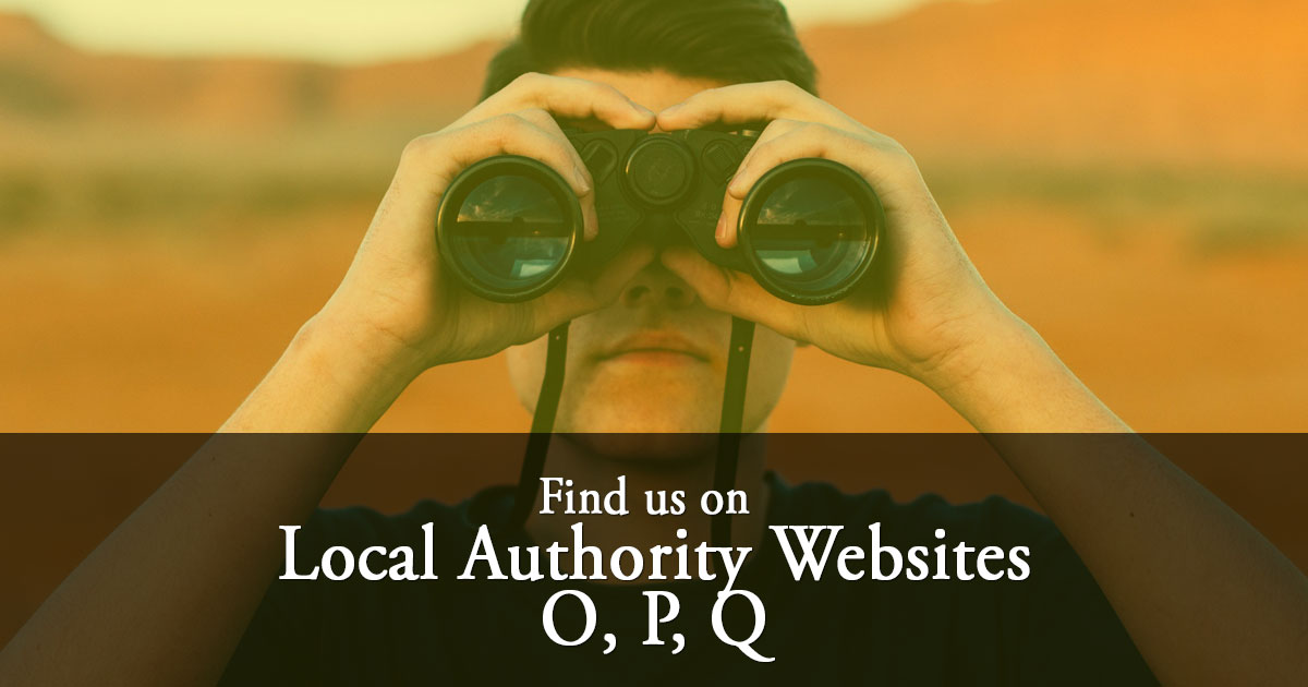 Local Authority Listings: O, P & Q