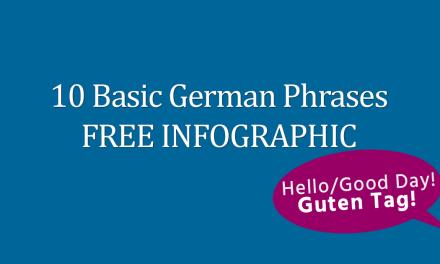 10 Basic German Phrases FREE Infographic