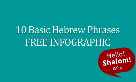 10 Basic Hebrew Phrases FREE Infographic