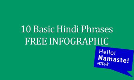 10 Basic Hindi Phrases FREE Infographic