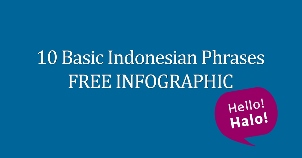 10 Basic Indonesian Phrases FREE Infographic