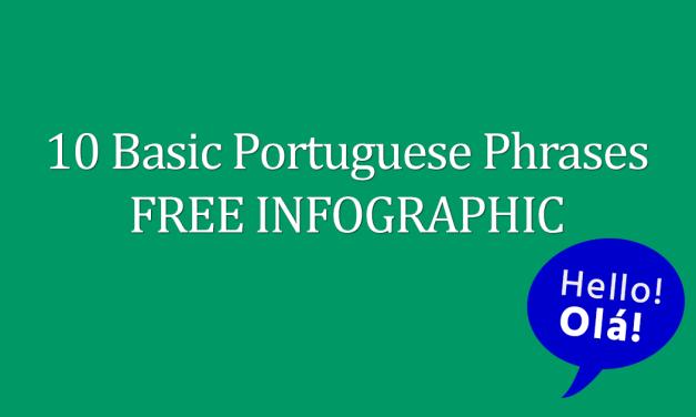 10 Basic Portuguese Phrases FREE Infographic