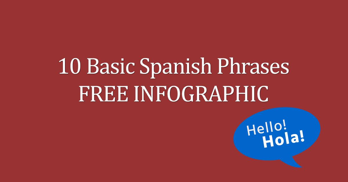 10 Basic Spanish Phrases FREE Infographic