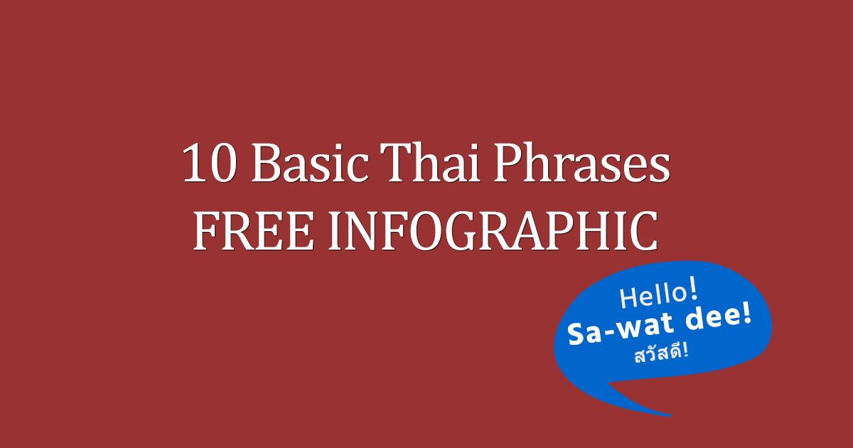 10 Basic Thai Phrases FREE Infographic