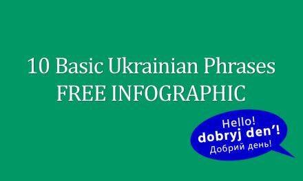 10 Basic Ukrainian Phrases FREE Infographic